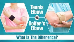 Difference between tennis elbow and golfer's elbow