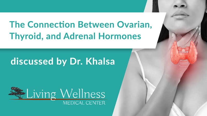 The connection between ovarian, thyroid, & adrenal hormones discussed by Dr. Khalsa